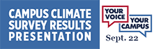 Campus climate survey results presentation: September 22