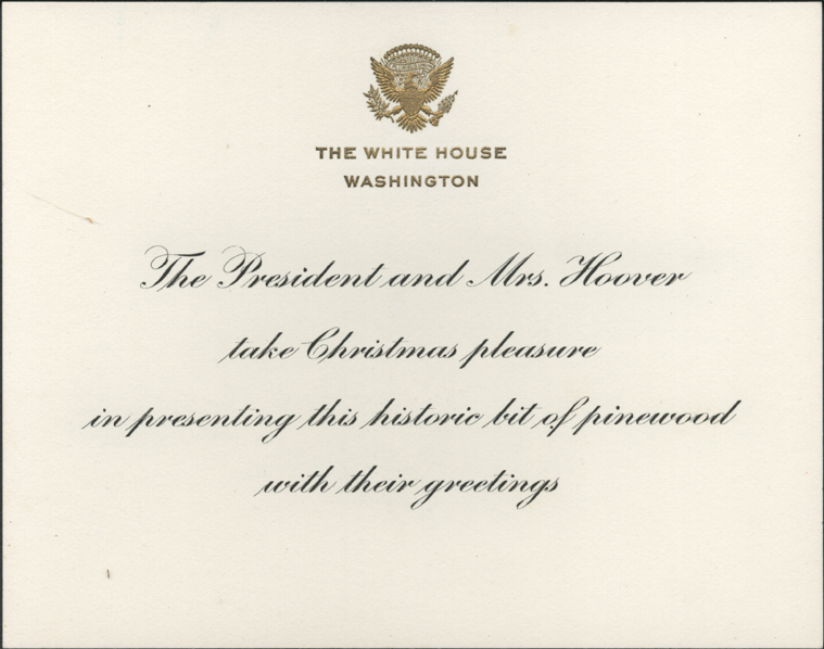 Hail to the chief the wt marshall collection hoover 1930 christmas card thumbnail m4hsunfo