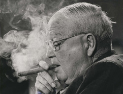 image of eastland smoking a cigar