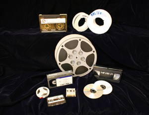 image of tapes and film