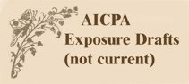 AICPA Exposure Draft