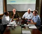 Scientist having a meeting